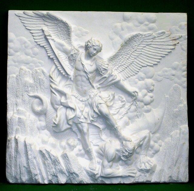 LARGE 3D ST. MICHAEL ARCHANGEL WALL ART HOME DECOR NEW