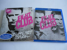 SIGNED by CHUCK PALAHNIUK Fight Club 10th Anniversary Edition BLU-RAY Mint