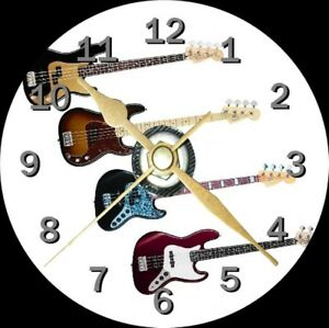 Bass-Guitar-Novelty-Cd-Clock-Can-be-personalised
