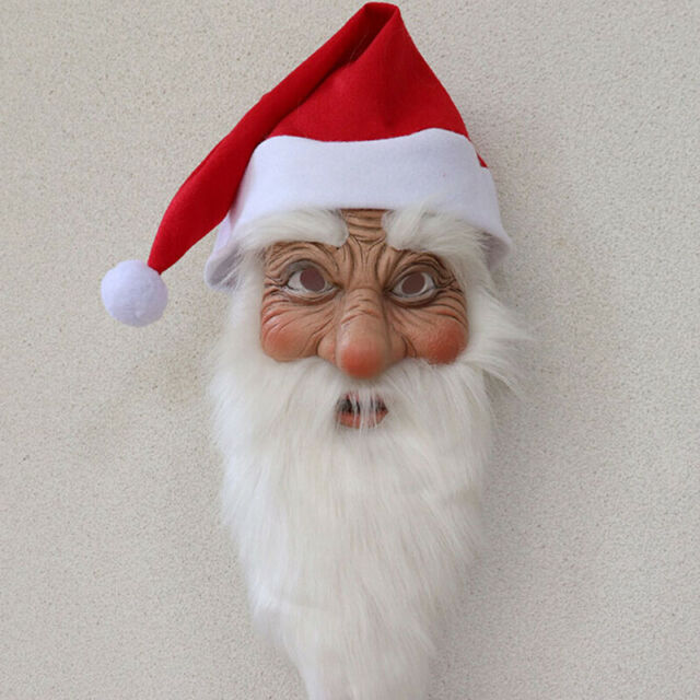 Santa Claus Adult Christmas Unisex Face Masquerade Costume Xmas Fancy Full Mask