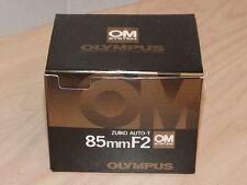 OLYMPUS OM ZUIKO 85mm F2 LENS NEW IN BOX LATER MC VERSION