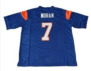 e08176abc78 Alex Moran Jersey 7 Blue Mountain State Movie TV Football Shirt Blue ...