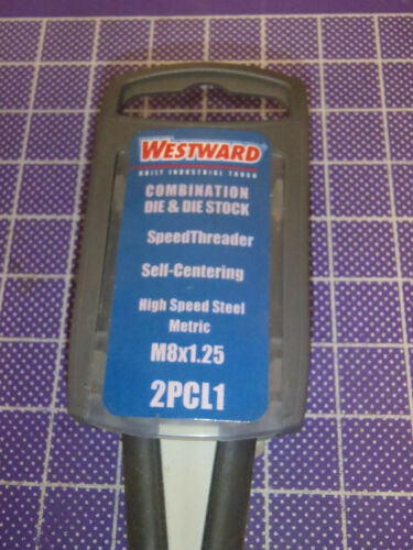 Integrated Die /& Die Stock M8X1.25 Thread RH HSS Metric Self Centering 2PCL1