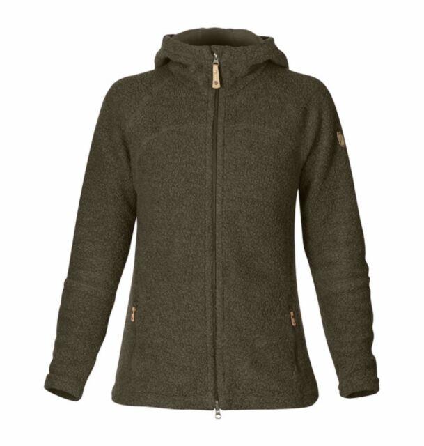 4895d25f7f6 Women's Fjallraven Kaitrum Fleece Dark Olive Size S Warm Ski Jacket Jumper