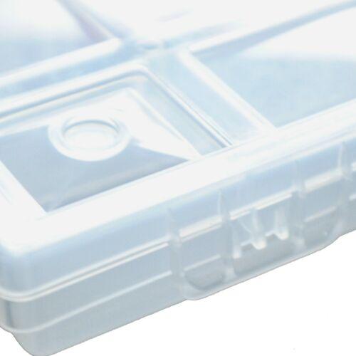 10x Sortimentskasten Kleinteilemagazin Sichtkasten Transparent 20 Fächer Nor12