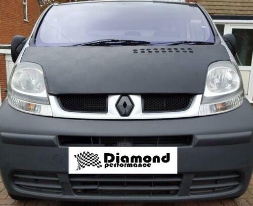 Renault Trafic 2001-2006 de fibra de carbono efecto Parrilla Frontal Insignia cubierta