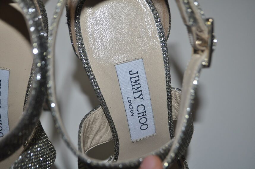 Jimmy Choo Choo Choo Kayak métallique lumière bronze Plateforme entrecroisent Sandale Chaussure 10 - 9.5 3bb8dd