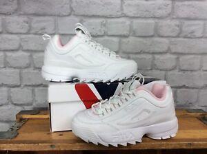Fila Leather 4 Trainers 2 Ladies Ii Pink Disruptor Eu White 37 Chunky 1 Uk UPwUHxqr