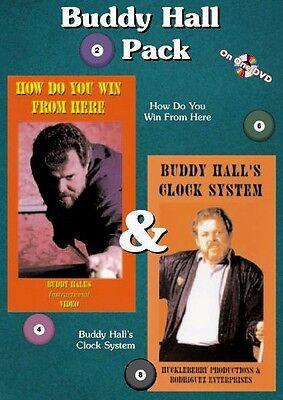 Instructional Billiard DVD - Buddy Hall 2-Pack DVD Set