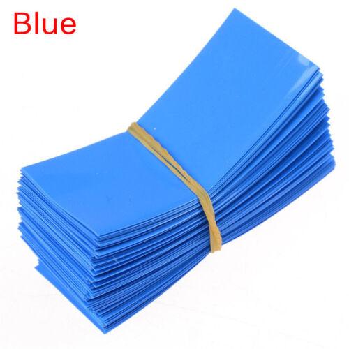 100Pcs 18650 Battery Wrap PVC Heat Shrink Tubing Precut Battery Film Tape A*