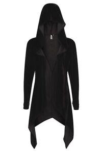 Occult Artemis Cardigan Gothic Necessario Velvet Black Evil Open Hoodie Witchy Ywvzv75x