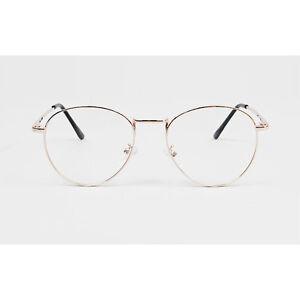 1920s-Vintage-oliver-retro-eyeglasses-46R90-Gold-round-frames-eyewear-rubyruby