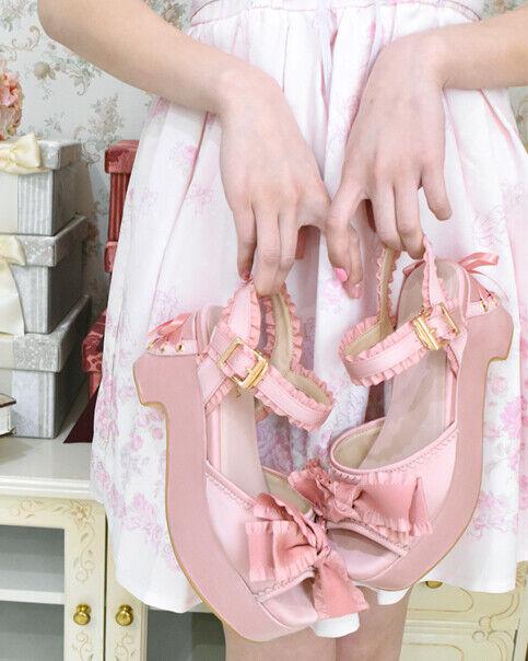 LIZ LISA - Frill Ribbon Sandals( japan kawaii lolita harajuku )