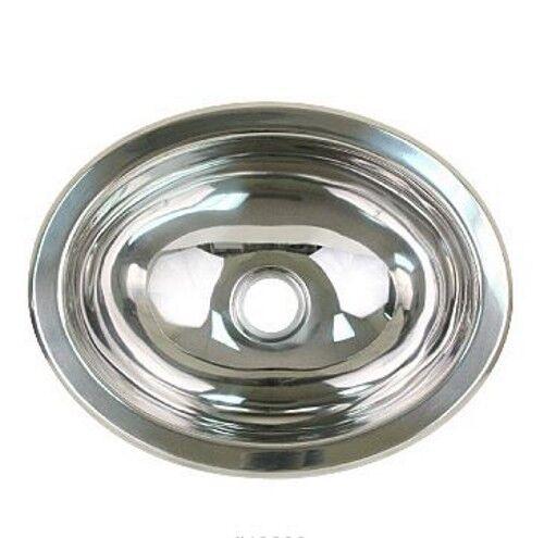Scandvik 10281 Brushed 18//10 Stainless Steel Oval Marine Basin