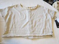 Rusty Surf Womens Juniors Saturday Top M 10 Loose Shirt Top Hgr Stripe