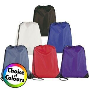 Waterproof Bag Drawstring PE Backpack Gym Swim School Sport Shoe Dance P.E bag