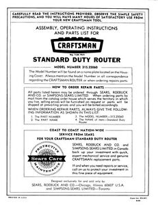 craftsman router manual 315