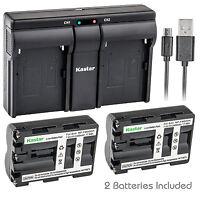 Kastar Np-fm500h Battery Charger Sony Dslr-a200wb Dslr-a300 Dslr-a300k A300x