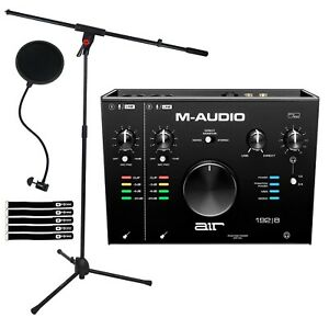 M-Audio Air 192|8 USB MIDI Home Audio Recording Interface w Software & Mic Stand