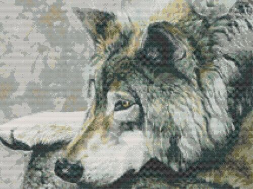 GREY WOLF # 4 COUNTED CROSS STITCH CHART
