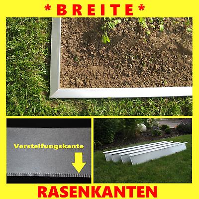 Set 20Stck Rasenkanten Metall 20cm Hoch Beeteinfassung Rasenkante Breit