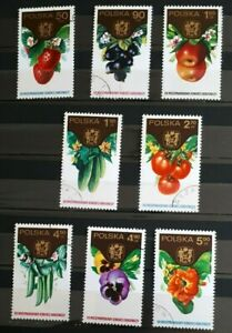 1974-Full-Set-of-8-Poland-Stamps-International-Horticultural-Congress-PC-NH