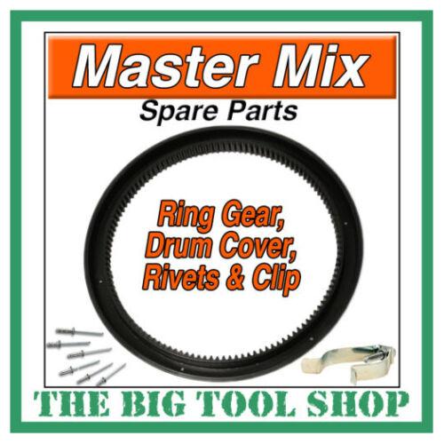 MASTER MIX MIXER RING GEAR,MC130 C//W FIXING RIVETS+CLIP *1ST CLASS POST*