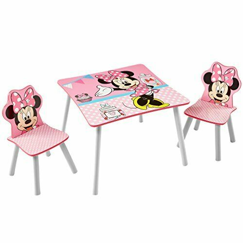 Disney Minnie Mouse Kids Table And 2, Minnie Mouse Furniture