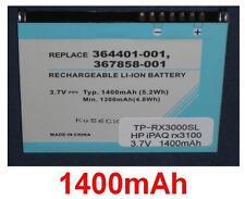 Batterie Für iPAQ HSTNH-S03B-SL 1400mAh
