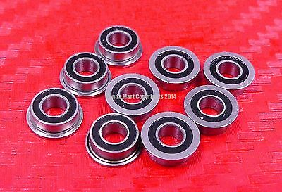 Flanged Metal Rubber Sealed Ball Bearing MF63RS 10pcs MF63-2RS 3x6x2.5 mm
