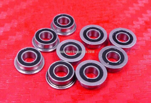 3x8x3 mm Flanged Metal Rubber Sealed Ball Bearing MF83RS 10pcs MF83-2RS
