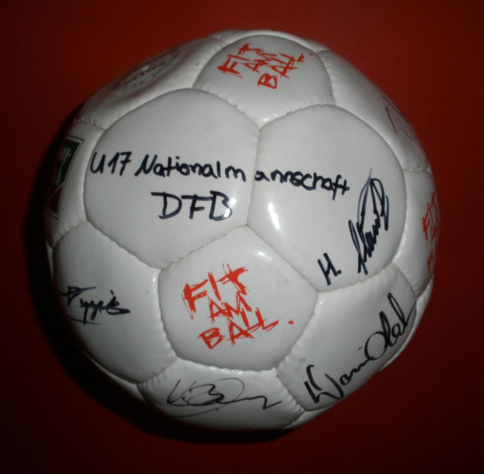 Deutschland Autogrammball Unterschriftenball DFB U17 EM-Qualifikation Toni Kroos