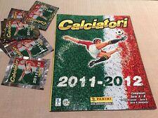 ALBUM FIGURINE RACCOLTA CALCIATORI PANINI 2011/2012 PERFETTO CON 10 BUSTINE