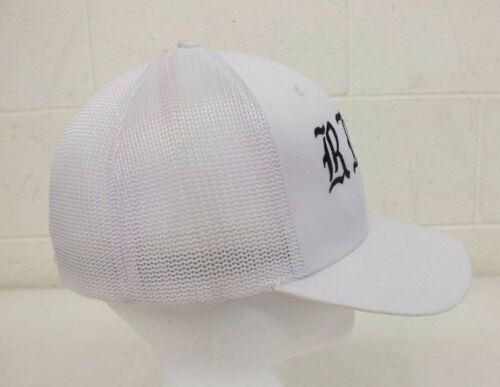 Ride Vail Yupoong White Mesh Trucker-Style Flex-Fit Baseball Cap NEW LOOK