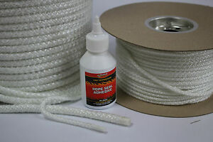 25mm WHITE STOVE ROPE – QUALITY GLASS FIBRE ROPE SEAL LAGGING WOOD BURNER OVEN