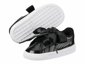 competitive price dc186 29784 Details about Puma Basket Heart Glam Patent 363895-01 Black Leather Shoes  Toddler