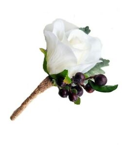 Buttonhole-White-Ivory-Rose-amp-Berries-Buttonhole-for-Groom-Groomsman-Father