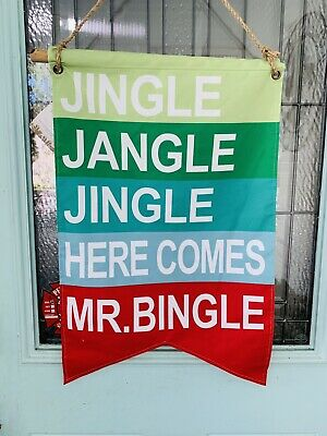 Large Mr Bingle Door Hanger Banner Authentic Dillards Trimsetter Ebay