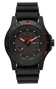 Traser-H3-Professional-Red-Combat-Men-039-s-Watch-104148-Analogue-Rubber-Black