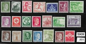 5909-Mixed-MH-stamp-group-Adolph-Hitler-Third-Reich-Germany-Postage