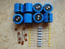 8PCS 330uf 450v 105c Capacitors NEW & Resistors For TL-922 Amps