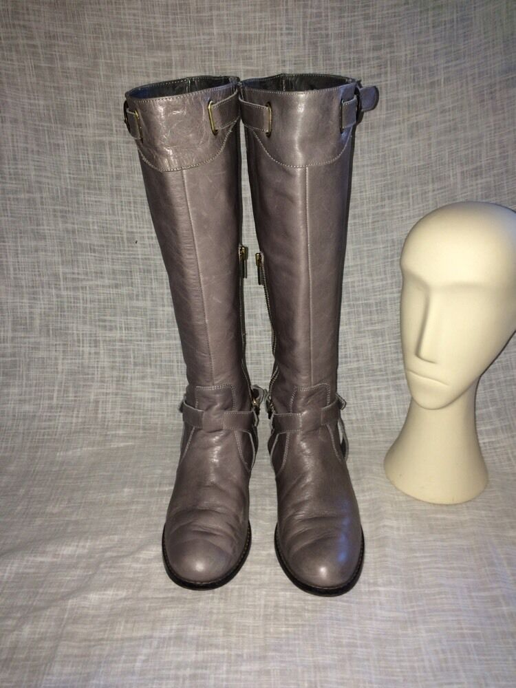 Charles David Leather Riding Boots Women 7.5