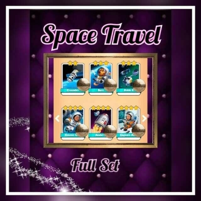 Coin Master Cards ::: Space Travel Full set (( Fast sending))