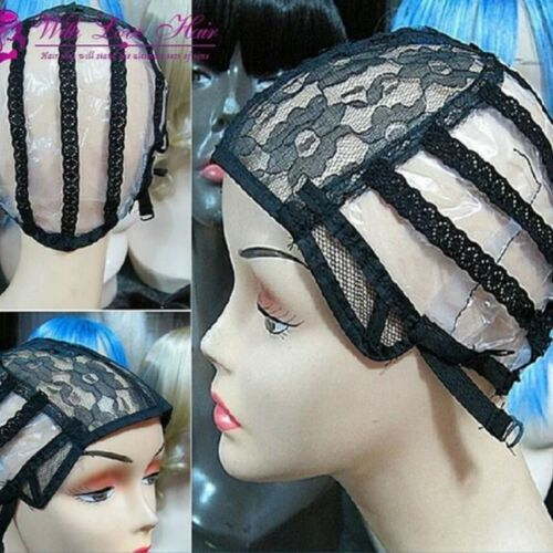 No combs Wig making Caps Adjustable Straps with Lace Mesh Closure Inserts
