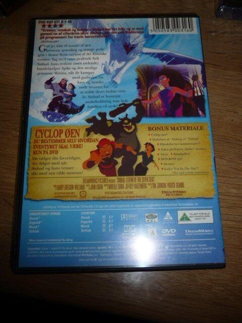 Sinbad legenden fra de syv have, DVD, tegnefilm