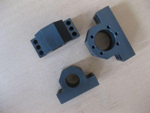 3 ballscrews ball screw nut housings nut brackets RM2505,2510 ballnuts CNC parts