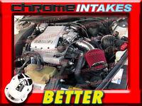 Cf Black Red 88 89 90-94 Chevy Cavalier Z24 2.8 2.8l/3.1 3.1l V6 Air Intake Kit