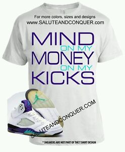 6288f54733d33c JORDAN 5 GRAPES Matching t shirt size 3XL by SALUTE AND CONQUER