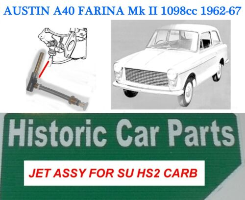 "AUSTIN A40 FARINA 1098cc 1962-67 HS2 1¼"" SU Carburettor 1 x JET ASSEMBLY AUD13"