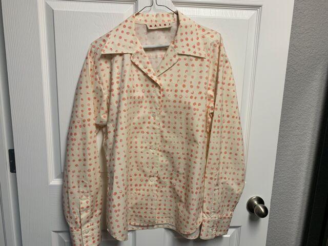 MARNI Women's print blouse, size US M, EU 40-42, cotton poplin, buttons closure,